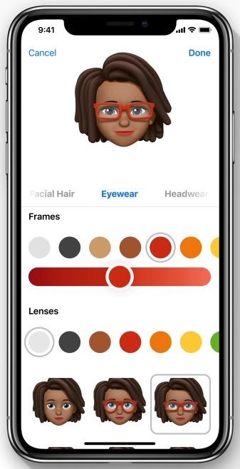 Memoji feature/ Photo: Apple