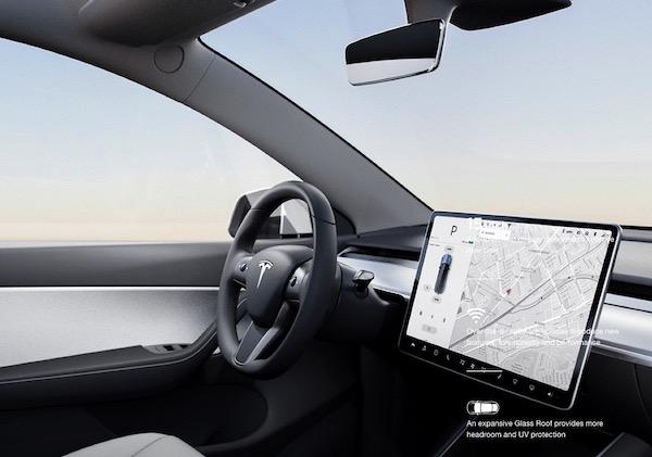 15,inch touchscreen built into the Model Y \u2013 Photo Tesla. \u201c