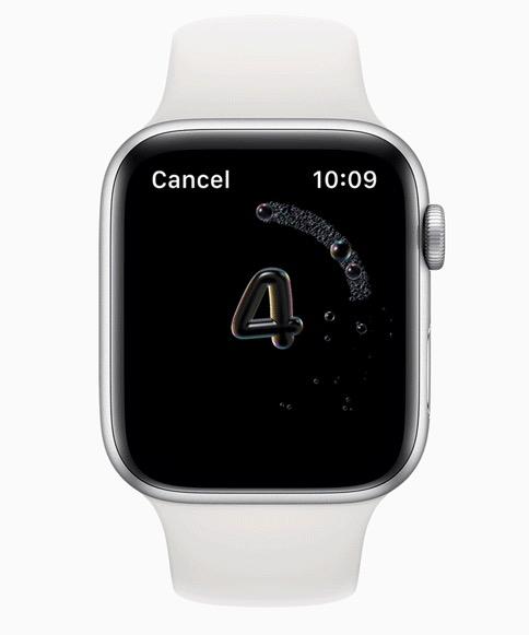 Apple Watch hand washing