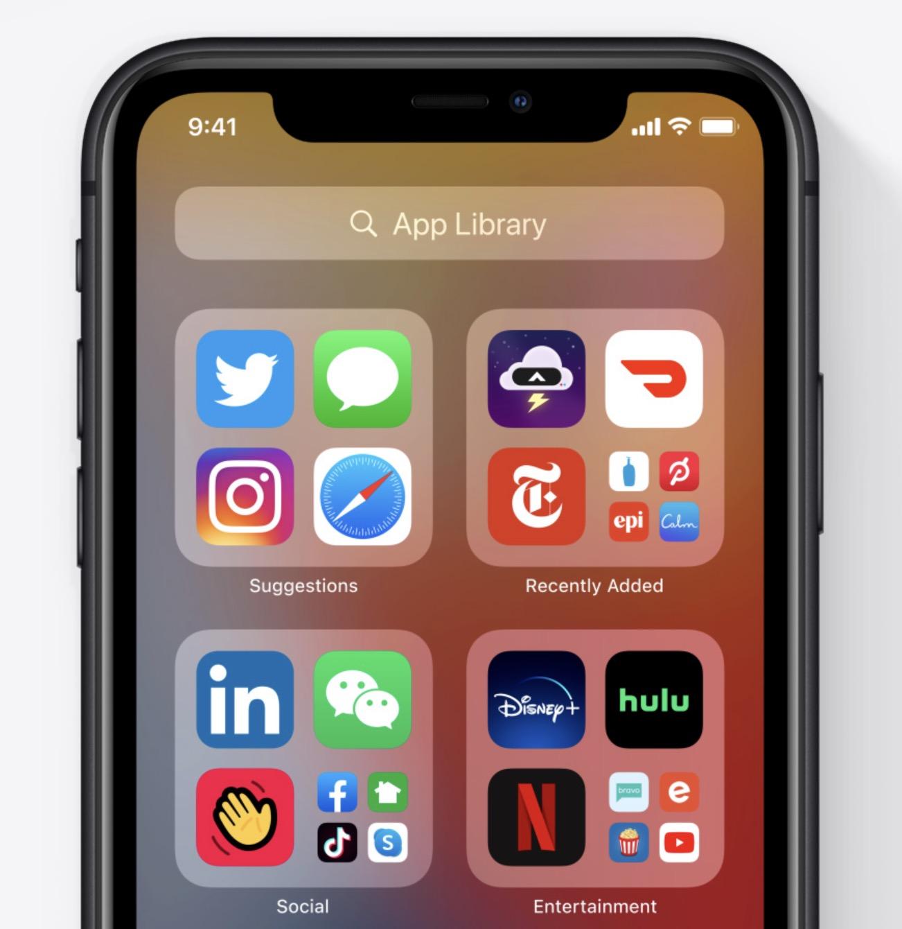 Apple iOS 14 - App Library