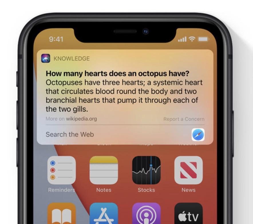 Apple iOS 14 - Siri
