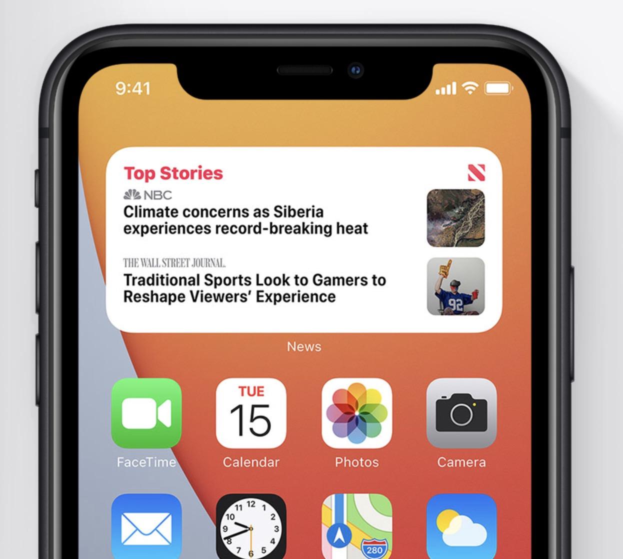 Apple iOS 14 - Widgets