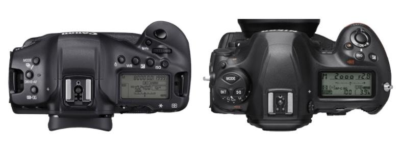 Nikon D6-Canon EOS-1D Mark III